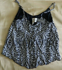 Wet Seal Juniors Medium Black/White Dotted Swing Cami Brand New Ship Free in US