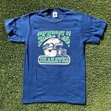 Vintage 80s LOGO7 SEATTLE SEAHAWKS Mens T Shirt NFL Football Small Single Stitch