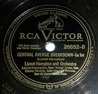 Lionel Hampton Orch w/Nat King Cole 78 Jack The Bellboy/Central Ave Breakdown D7