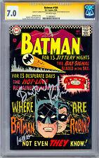 BATMAN #184 CGC-SS 7.0 SIGD BURT WARD aka 1960'S ROBIN & CARMINE INFANTINO 1966