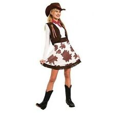 Adults Women Texas Cowgirl Cow Girl Rodeo Wild West Costume Fancy Dress Up