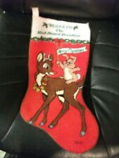 Rudolph Rednose Reindeer Christmas stocking 17 inch Robert May Co vintage felt