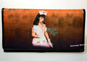 ROCKABILLY CHECK BOOK TRIFOLD PINUP WALLET COLLECTABLE WOMENS FASHION WALLET