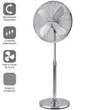 Ventilatore Colonna Piantana in Acciaio Inox 60W 50cm 3 Velocita Regolabile