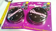 Ozzy Osbourne Family 4 pc. Coaster Set/2 pks. in lot/2002 Never used