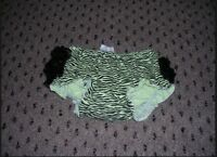 """6//12 Months """"Boutique/"""" Ivory Rhumba Lace Rear Diaper Cover Panty Bloomers NWT"""