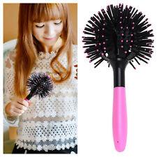 Nueva 3D cepillo de pelo de la bola Estilo brushing desenredante Salon Peine
