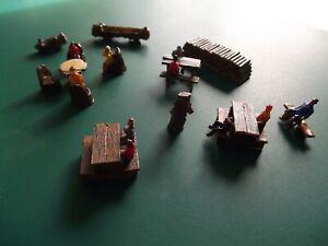 tables de pique-nique pour maquette HO avec personnages