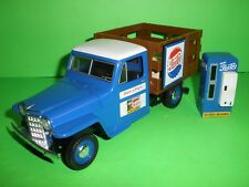 1953 WILLYS JEEP STAKE BED 1:25 PEPSI Die Cast SODA MACHINE Liberty Classics