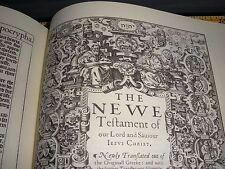 1611 King James Bible TETRAGRAMMATON JEHOVAH Watchtower Research 1St Edition '06