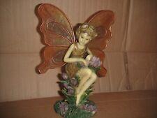 "Magic Fairy Figurine Tea Light Candle Holder 8"" Tall"