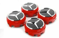 AMG RED Set Wheel Centre Caps 75mm Fit To Mercedes Benz Most Models A C E S GL