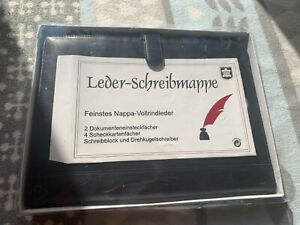 Nappa-Vollrindleder A4 Mappe Schreibmappe Aktenmappe Dokumentenmappe