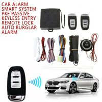 Smart PKE Passive Keyless Car Alarm Remote Start Engine Push Sarter Auto Lock