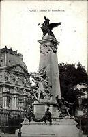 Paris Frankreich France AK 1938 Statue de Gambetta Stempel Ringkampf Turnier