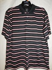 GEORGE MEN'S BLACK AND WHITE STRIPED POLO SHIRT/SIZE EXTRA LARGE (46-48)/NEW
