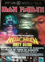 IRON MAIDEN VIRTUAL XI TOUR SPANISH BIG PROMO POSTER 90cm X 140cm MUY RARO