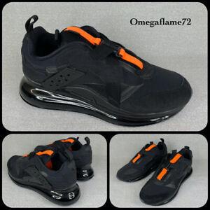 Nike Air Max 720 Slip OBJ, Sz UK 10, EU 45, US 11, DA4155-001, Black Orange