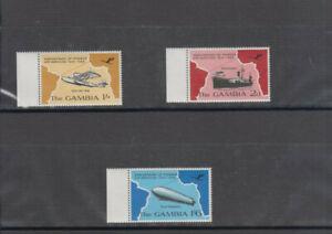 Gambia, Einzel Satz u. Viererblock, Anniversary of Pioneer Air Service 1934-1969