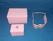 Jewelry Box Organizer Chest Pink (2) Small and Medium sizes and headband