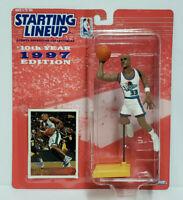 GRANT HILL - Detroit Pistons - Kenner Starting Lineup SLU 1997 NBA Figure & Card