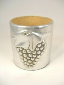 Pewter Finished Wine Cooler with Grape Motif