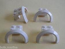 Lego 4 garde boues blancs 60107 4436 7890 3222/ 4 white arch Vehicle Mudguard