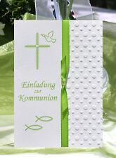 EINLADUNGSKARTEN zur KOMMUNION - KONFIRMATION - TAUFE - personalisiert