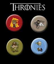 Thronies 25mm Badge Set - inspired by Game of Thrones - Tyrion Jon Snow Danerys