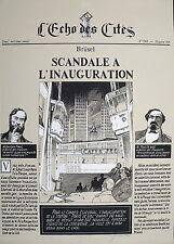 Affiche sérigraphie SCHUITEN  Brusel Scandale à l'inauguration 250ex signé 61x86