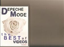 DEPECHE MODE THE BEST OF VIDEOS VOLUME 1 DVD MUSIC