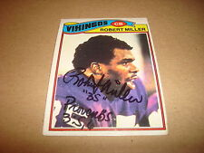 Robert Miller Vikings 1977 Topps #191 Mexican RARE Signed Authentic Autograph K