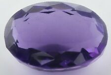 LARGE 17.5x12.5mm OVAL-FACET DEEP-PURPLE NATURAL AFRICAN AMETHYST GEM (APP )