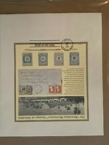 USA Hawaiian Missionary Stamps FDC w/ Envelope 2002 37C stamps