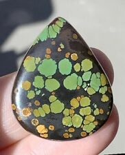FABULOUS GEM OF GORGEOUS GREEN see video! SPOTTED HUBEI TURQUOISE
