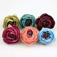 "100Pc 2"" Artificial Silk Fake Camellia Flowers Heads Wedding Bouquet Home Decor"