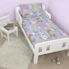 New Disney Frozen Crystal Junior Toddler Cot Bed Duvet Quilt Cover Set Anna Elsa