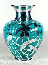 THOMAS Bavaria Porzellan Silberoverlay Vase ° Art Deco xxl Porzellanvase