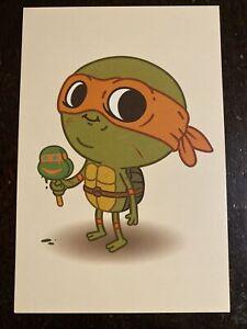 Teenage Mutant Ninja Turtles Michelangelo Mike Mitchell Mondo SDCC 2014 Postcard