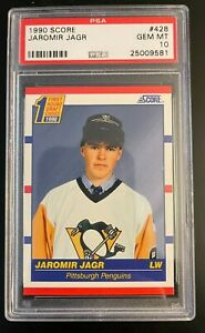 1990 Score American #428 Jaromir Jagr PSA 10 Gem Mint Pittsburgh Penguins QNTY
