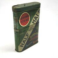 Vintage 1930s Lucky Strike Half And Half Tobacco Tin Telescoping Vertical Pocket