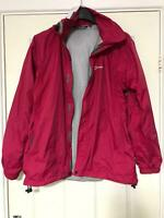 Berghaus Pink Jacket Size 14 Women Long Sleeve Great Condition (H207)