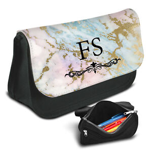 Marble Personalised Pencil Case Game School Bag Kids Stationary - 09