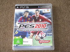 Pro Evolution Soccer PES 2010 Sony Playstation 3 Game PS3 - Like New