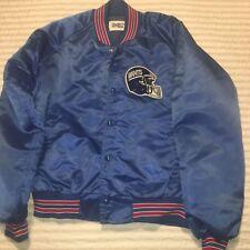 Vintage NY Giants NFL Football Chalk Line Snap Satin Jacket Size L USA 🇺🇸 Nice