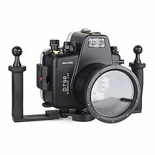 Meikon Underwater Camera Housing Diving Case 60m/195ft for Nikon D750 w/Tray