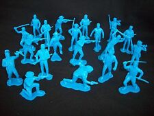 Marx Western/ACW Cavalry Toy Soldiers, 1/32 scale, 20 figures - 11 poses BLUE