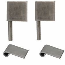 2 Pack Right Hand Steel Lift Off Leaf Hinges 50x80mm Heavy Duty Door Hinge