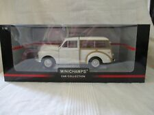 Minichamps 1:18 scale Die Cast Morris Minor Traveller Cream