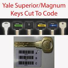 Yale Superior/Magnum Replacement Keys Cut to Code by Professional Locksmiths